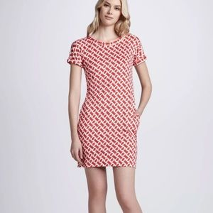 DVF 1974 red chain Beth silk dress